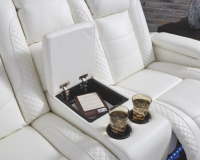 Pent Power Reclining Loveseat with Console