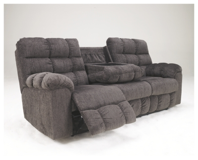 Aurora Reclining Sofa with Drop Down Table