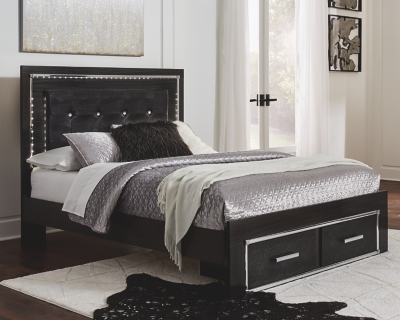 Kaydell Queen Upholstered Panel Bed with Storage