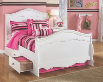 Easton Full Sleigh Bed with 2 Storage Drawers