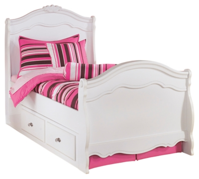 Easton Twin Sleigh Bed with 2 Storage Drawers