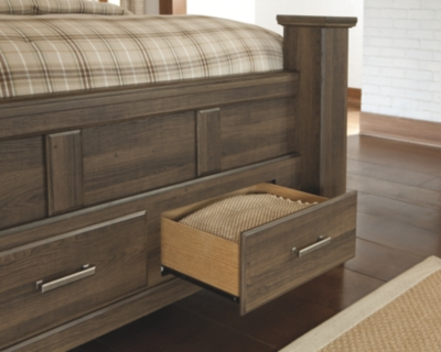 Jena Queen Poster Bed with 2 Storage Drawers