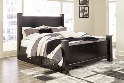 Mirlotown King Poster Bed with Storage