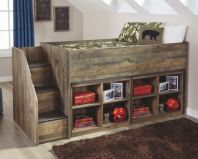 Trenton Twin Loft Bed with 2 Bookcases