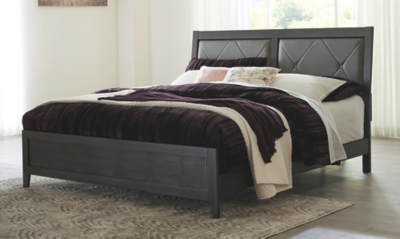 Doxer King Upholstered Panel Bed