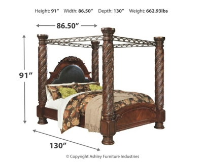 Niland California King Poster Bed with Canopy