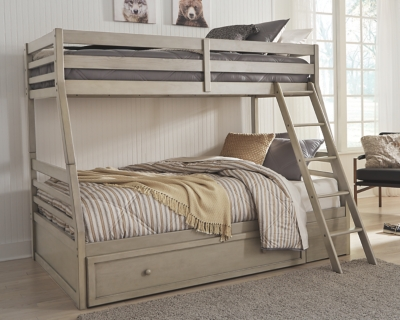 Lanare Twin over Full Bunk Bed with 1 Large Storage Drawer