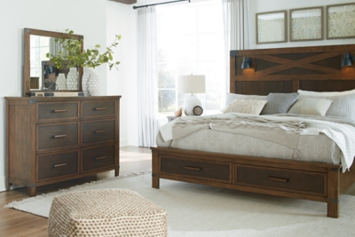 Wyattfield California King Panel Bed with Storage