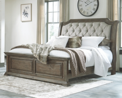 Woodacre Queen Upholstered Panel Bed