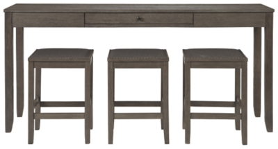 Clara Counter Height Dining Table and Bar Stools (Set of 3)