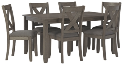 Caitbrook Dining Room Table and Chairs (Set of 7)