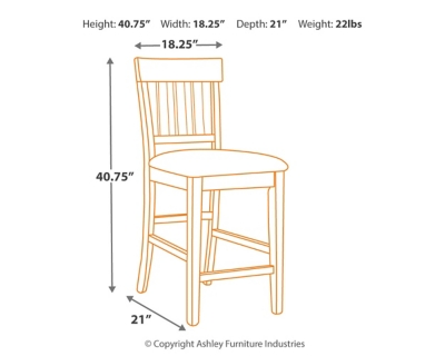 Hanford Dining Room Counter Height Bar Stool (Set of 3)
