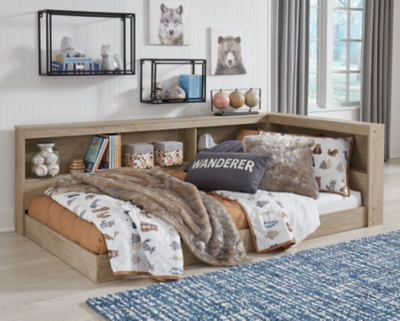 Oliah Twin Bookcase Storage Bed