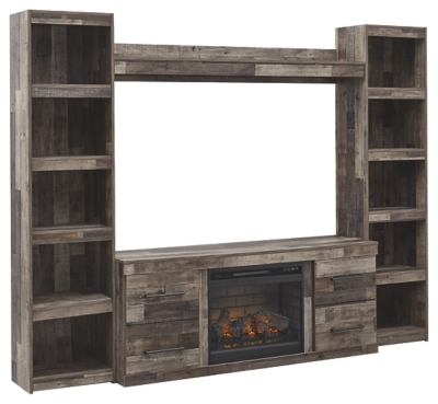 Dover 4-Piece Entertainment Center with Electric Fireplace