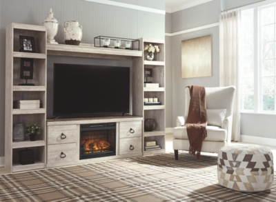 Westley 4-Piece Entertainment Center with Electric Fireplace