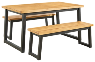 Town Wood Outdoor Counter Table Set (Set of 3)