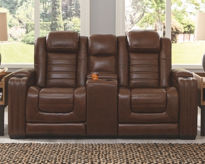 Backtrack Power Reclining Loveseat with Console