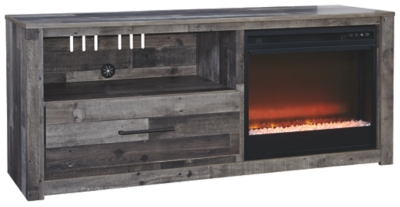 "Dover 59"" TV Stand with Electric Fireplace"