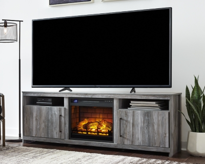 """Baystorm 75"""" TV Stand with Electric Fireplace"""